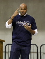 Wes Moore speaks to a crowd of 1,700 - including two overflow rooms - at California State University, Bakersfield on Nov. 8, 2011.